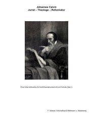 Johannes Calvin Jurist – Theologe – Reformator - reformiert-info.de