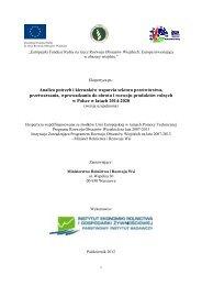 Analiza potrzeb i kierunków wsparcia sektora przetwórstwa ... - KSOW