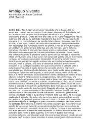 Ambiguo vivente - Mario Rotta