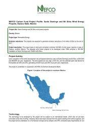 NEFCO Carbon Fund Project Profile: Santo Domingo and Bii Stinu ...