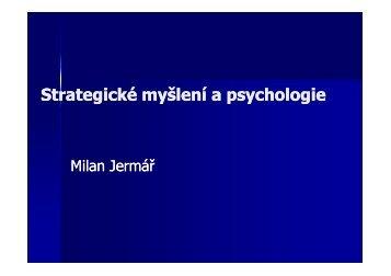 Strategické myšlení a psychologie