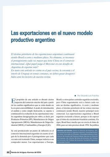 Las exportaciones en el nuevo modelo productivo argentino - IEEM