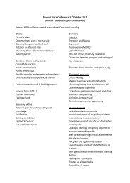 Appendix 7 Student Voice - summary responses -post consultation.pdf