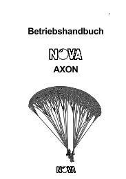 Betriebshandbuch AXON - Nova Paragliding