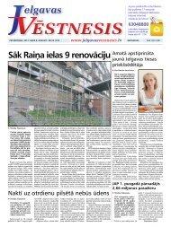 Sāk Raiņa ielas 9 renovāciju - Jelgavas Vēstnesis