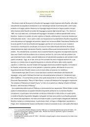 La semantica di ISA - Filosofia