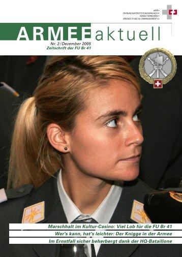ARMEE Aktuell 2/2005 - Führungsunterstützungsbrigade 41 / SKS