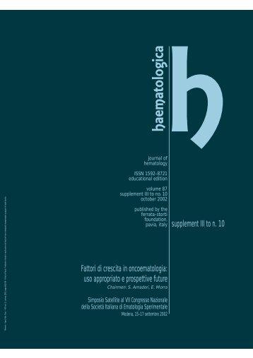 2002; suppl. Domp' - Supplements - Haematologica