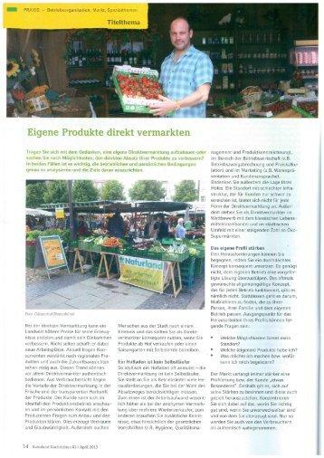 Eigene Produkte direkt vermarkten - Hochschule für nachhaltige ...