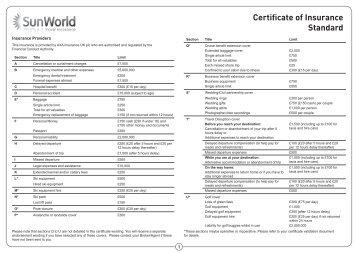 Certificate of Insurance Standard - Adrian Flux