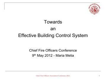 Maria Melia - Towards an Effective Building Control System