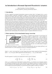 An Introduction to Resonant Operated Piezoelectric Actuators