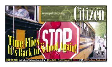 INSIDE THIS ISSUE: Back to School Excitement!...or Anxiety? • City ...