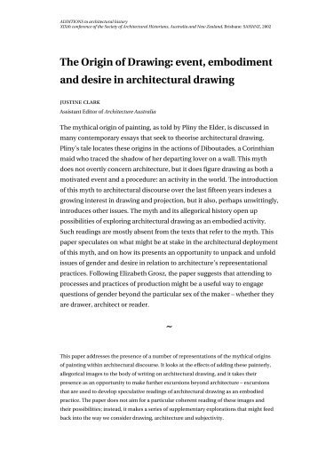 The Origin of Drawing - Spatial Design@Massey
