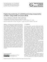Engineering monitoring of rockfall hazards along transportation ...