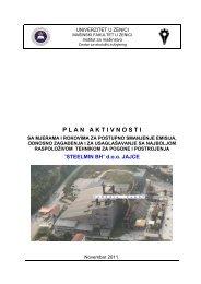 "Plan Aktivnosti - STEELMIN BH"" d.o.o. JAJCE Skela bb, Jajce pdf"