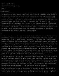 Fyodor Dostoyevsky Notes from the Underground PART I ...