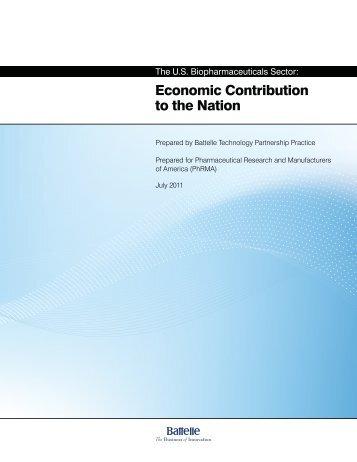Economic Contribution to the Nation - California Healthcare Institute
