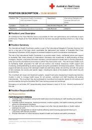 PD - International Health Coordinator 0413 - Australian Red Cross