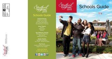 2013 Schools Guide - Stratford Festival