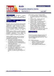 Informacijska zloženka o BUDI projektu - ZRMK