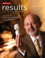reducing the World's Carbon Footprint - North Carolina State ...