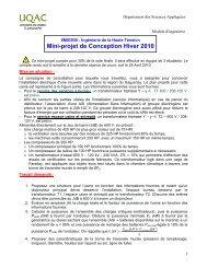 Mini-projet de Conception Hiver 2010 - UQAC
