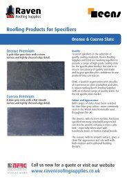 Product Brochure [ PDF 289 KB ] - Raven Roofing Supplies
