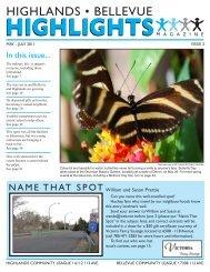 HIGHLANDS • BELLEVUE - Highlands Community League
