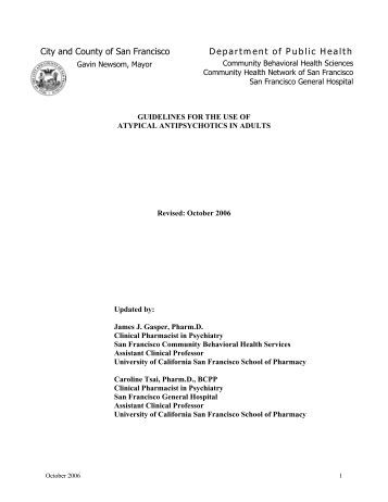 guidelines for the use of atypical antipsychotics - San Francisco ...