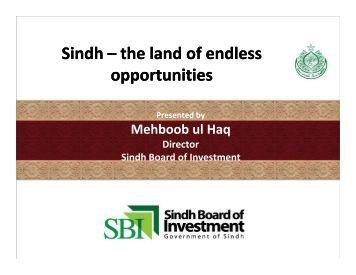 Presentation UK delagation-SBI - Sindh Board Of Investment ...