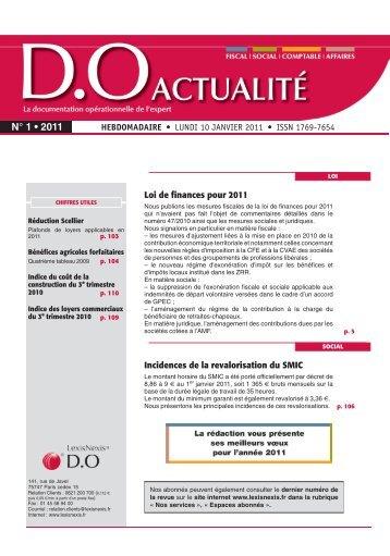 N° 1 • 2011 - LexisNexis