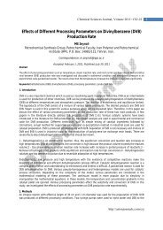Effects of Different Processing Parameters on ... - AstonJournals