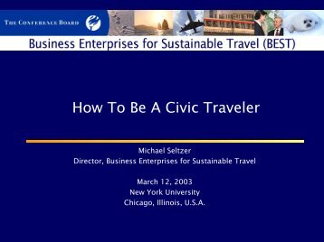 Doing Business Well - Preserving Our Destinations' Assets - Library