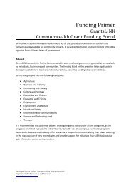 Information Paper GrantsLink FINAL - Bureau of Infrastructure ...