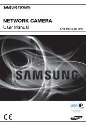 Samsung SNB-5001 Network Camera User Manual - Use-IP