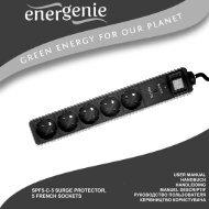 SPF5-C-5 Energenie User Manual - Gembird Europe BV