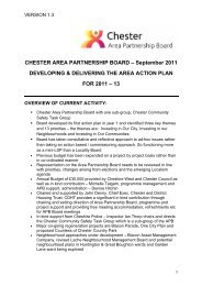 Chester Area Action Plan Board Paper 29th Sept 11 - West Cheshire ...