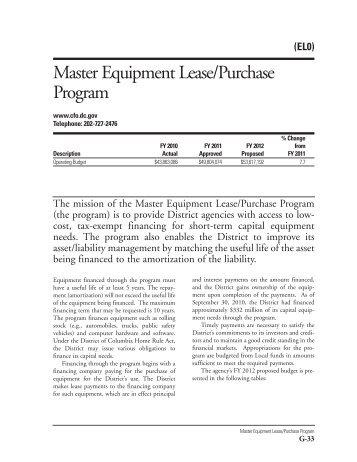 ELO Master Equipment Lease-Purchase Program Chapter 2012