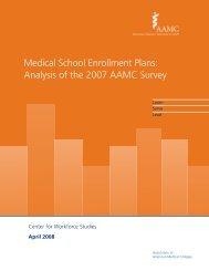 Medical School Enrollment Plans 2007 - Association of American ...