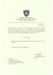 17.08.2011Vendimet e mbledhjes se 33-te te Qeverise ...