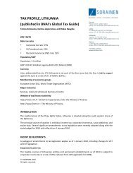 TAX PROFILE, LITHUANIA (published in BNAI's Global ... - Sorainen