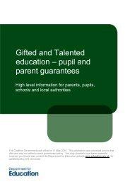 pupil and parent guarantees - GT Voice