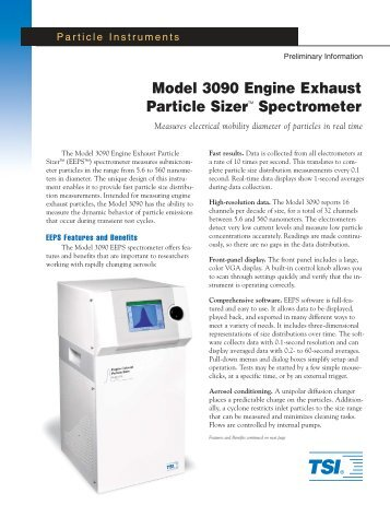 Model 3090 Engine Exhaust Particle SizerTM Spectrometer