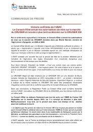 Victoire confirmée de l'UNAF. Le Conseil d'Etat annule les ...