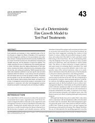 Use of a Deterministic Fire Growth Model to Test Fuel Treatments