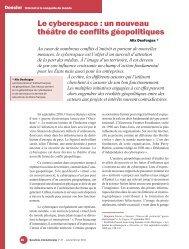 Le cyberespace : un nouveau thpktre de conflits ... - IHEDN
