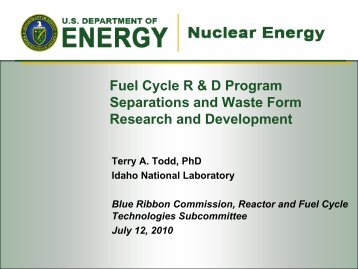 Presentation 4 - Blue Ribbon Commission on America's Nuclear ...