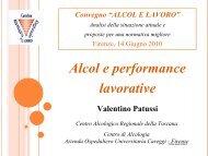 Alcol e performance lavorative - Snop