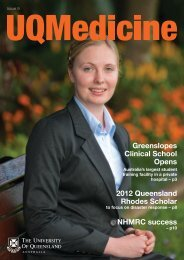UQMedicine Magazine Issue 9 - School of Medicine - University of ...